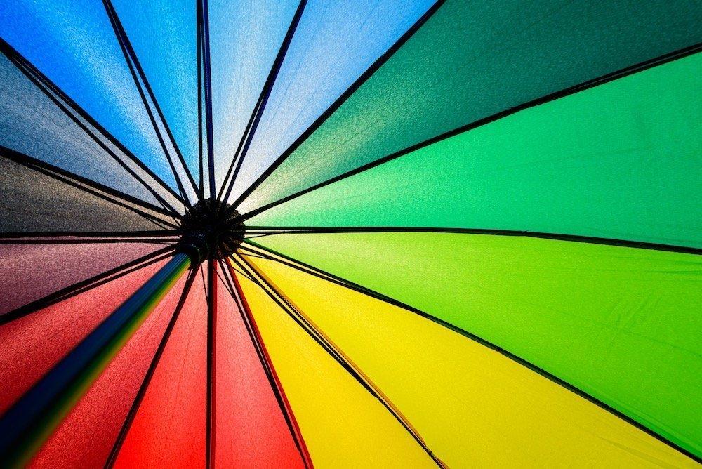 Vidusa control regenboog paraplu